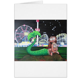 Coney Island Mermaid Card