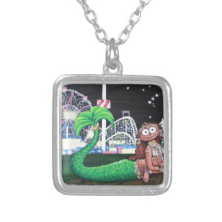 Coney Island Mermaid Silver Plated Necklace