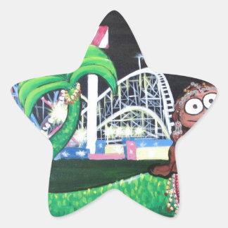 Coney Island Mermaid Star Sticker