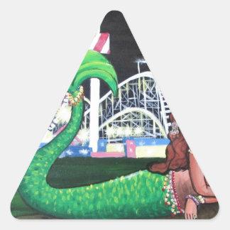 Coney Island Mermaid Triangle Sticker