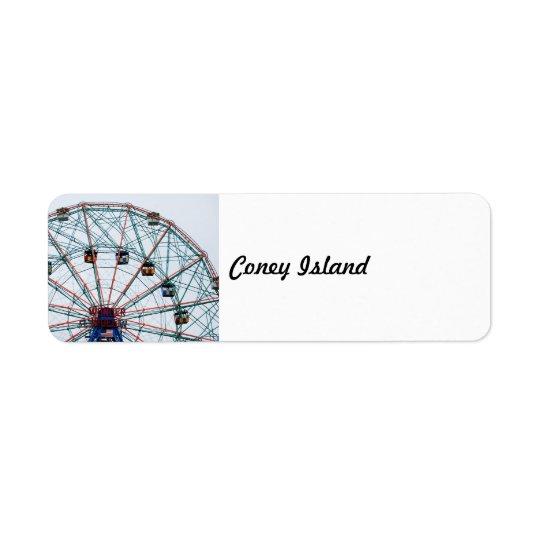 Coney Island Return Address Label