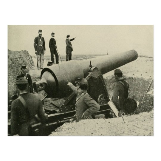 Confederate Army Siege Gun at Fort McAllister Postcard