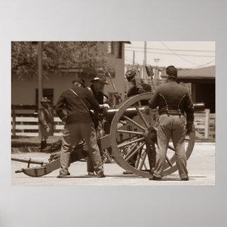 Confederate Cannon Poster