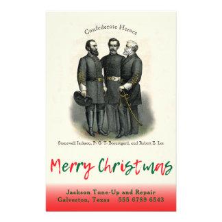 Confederate Christmas Auto Custom Shop Template Flyer