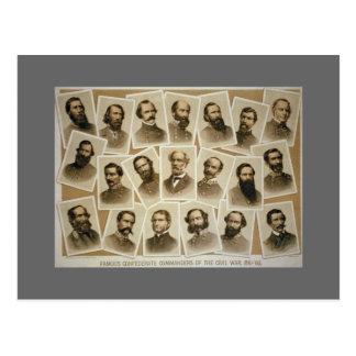 Confederate Commanders 1861-1865 Postcard