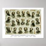 Confederate Commanders of The Civil War Poster