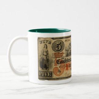 Confederate Dollar Two-Tone Coffee Mug