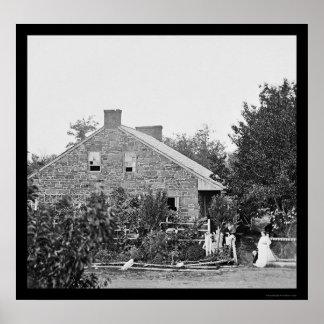 Confederate Headquarters in Gettysburg, PA 1863 Poster