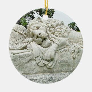 Confederate Lion of Atlanta, Oakland Cemetery, Round Ceramic Ornament