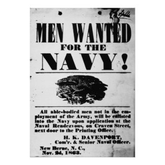 Confederate Naval Recruiting Poster