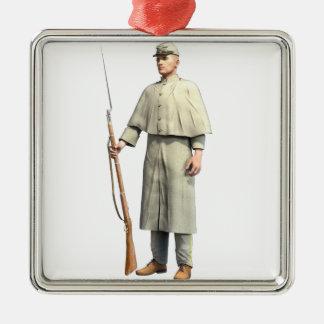 Confederate Soldier Guard Metal Ornament