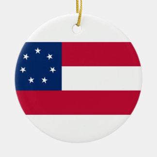 Confederate States of America Flag Ceramic Ornament