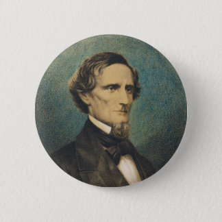 Confederate States President Jefferson Davis 2 Inch Round Button