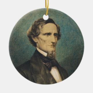 Confederate States President Jefferson Davis Ceramic Ornament