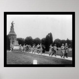 Confederate Veterans at the Memorial 1914 Poster