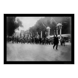 Confederate Veterans Parade in Washington, DC 1917 Poster