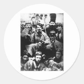 Confederate Volunteers, 1861 Classic Round Sticker