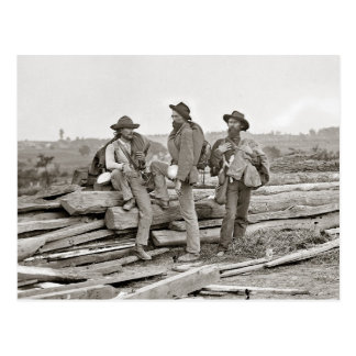 Confederates at Gettysburg, 1863 Postcard