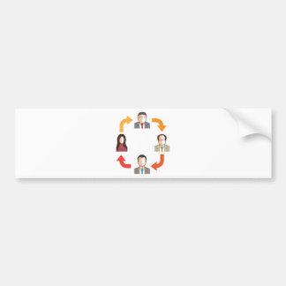 Conference circle bumper sticker