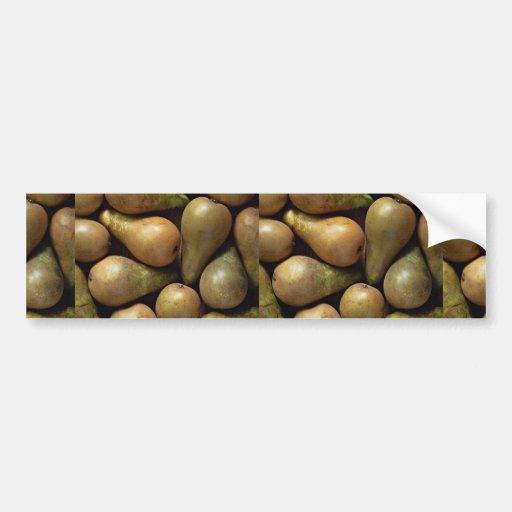 Conference pears bumper sticker