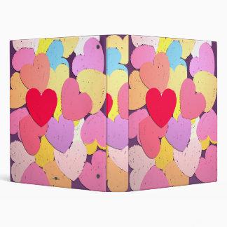 Confeti de corazones. binders