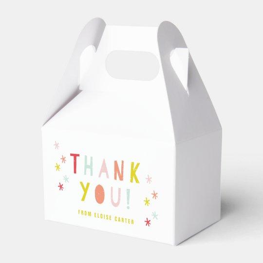 Confetti bash favour boxes party favor box
