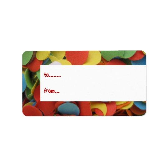 Confetti birthday gift tags