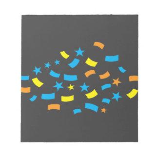 Confetti birthday notepads