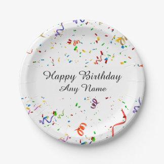 Confetti Birthday Party Paper Plate
