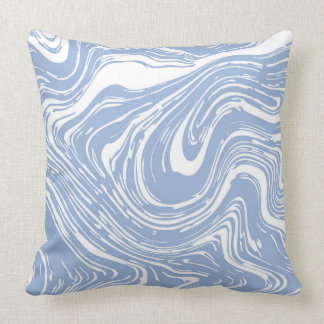 Confetti Blue Marble  Decorative Pillow