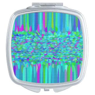 Confetti Blues Fringe Vanity Mirror