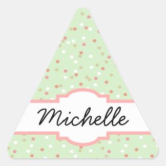 Confetti Cake • Green Buttercream Frosting Triangle Sticker