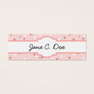 Confetti Cake • Pink Buttercream Frosting Mini Business Card