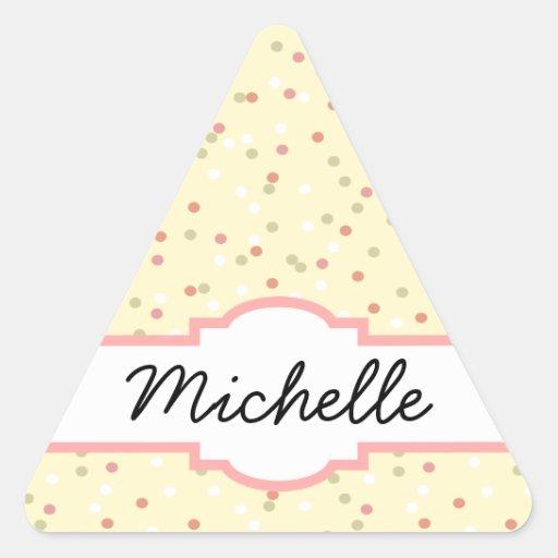 Confetti Cake  • Yellow Buttercream Frosting Triangle Stickers