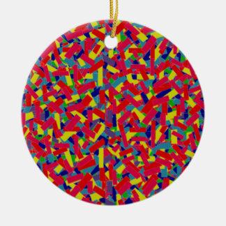 Confetti Ceramic Ornament