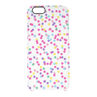 Confetti Dots Clear iPhone 6/6S Case