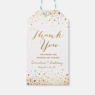 Confetti Dots Elegant Wedding Thank You Favor Tags Pack Of Gift Tags