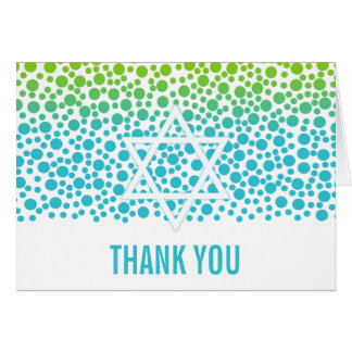 Confetti Dots Teal Lime Green Thank You Card