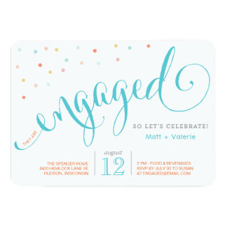 Confetti Engagement Party Invitation