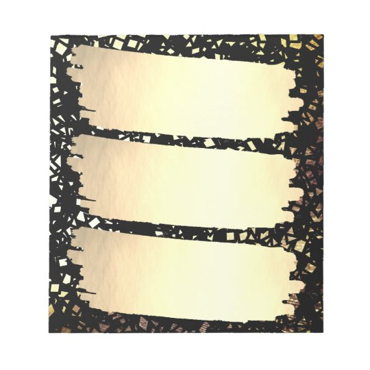 Confetti Faux Gold Foil Look List Grad Graduation Notepad