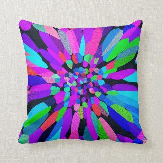 Confetti Flower Purple Throw Pillow