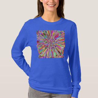 Confetti Flower Summer on Blue T-Shirt