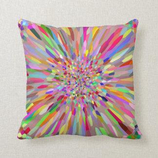 Confetti Flower Summer Throw Pillow