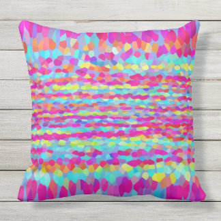 Confetti Fringe Outdoor Pillow