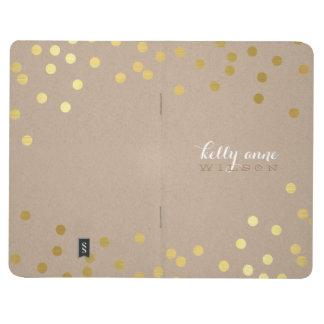 CONFETTI GLAMOROUS cute spot gold crafty kraft Journal