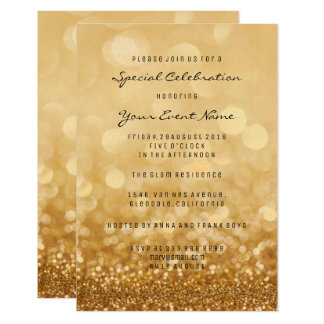Confetti Gold Glam Glitter Silver Minimal Formal Card