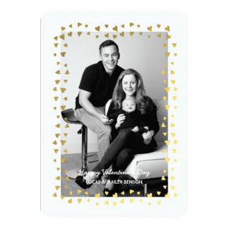Confetti Heart Frame | Valentine's Day Photo Card