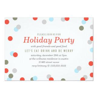 "Confetti Holiday Party 5"" X 7"" Invitation Card"