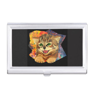 Confetti Kitty Cat Business cards holder