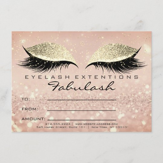 Confetti Lashes Gold Blush Makeup Certificate Gift